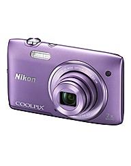 Nikon Coolpix S3500 20MP 7xzoom Camera