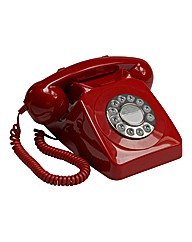 Retro Push Button Phone - Red