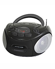 Portable CD Radio Cassette - Black