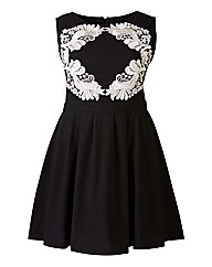 AX Paris Lace Motif Skater Dress