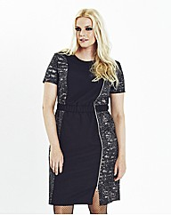 Zip Detail Biker Dress