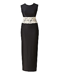AX Paris Contrast Lace Waist Maxi Dress