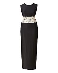 AX Paris Contrast Lace Waist Maxi Dress