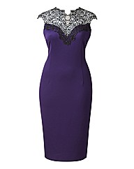 AX Paris Dress With Lace Neckline