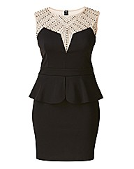 Laced In Love Embellished Neckline Dress
