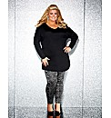 Gemma Collins Stud Detail Sleeved Top