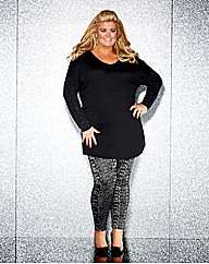 Gemma Collins Jacquard Snake Leggings