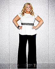 Gemma Collins Lace Peplum Top
