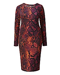 AX Paris Snake Print Bodycon Dress