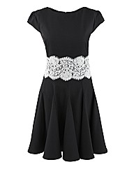 AX Paris Lace Waist Skater Dress