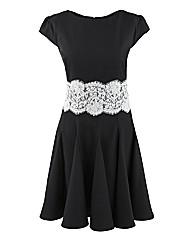 AX Paris Lace Waist Skater Dress
