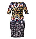 AX Paris Jewel Print Bodycon Dress