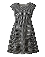 AX Paris Waffle Textured Skater Dress