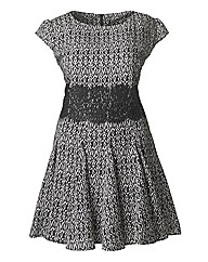 AX Paris Lace Waist Print Dress