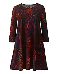 AX Paris Multi Snake Print Swing Dress