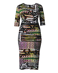 AX Paris Multi City Print Bodycon Dress