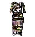 AX Paris Multi City Print Bodycon Dress