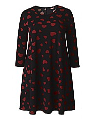 AX Paris Heart Print Swing Dress