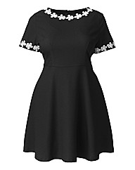 AX Paris Daisy Lace Collar Skater Dress