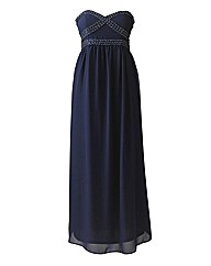 AX Paris Navy Strapless Maxi Dress
