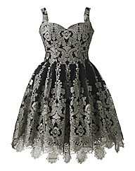 Chi Chi Baroque Style Skater Dress