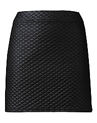 Quilted PU Mini Skirt