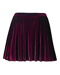 Pull On Velour Skater Skirt