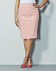 Simply Be Patent PVC Pencil Skirt