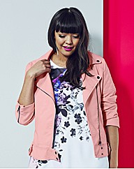 Simply Be PU Pink Biker Style Jacket