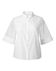 Simply Be Organza Short Sleeve Shirt