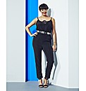 Simply Be Jumpsuit With Lace Insert