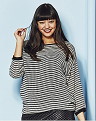 Houndstooth Georgette Sweater