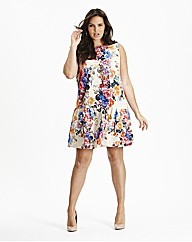 Simply Be Drop Waist Floral Tunic Dress