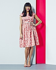 Simply Be Pink Jacquard Prom Dress