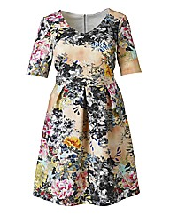 Simply Be Floral Scuba Prom Dress
