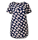 Alice And You Navy Print Daisy Top