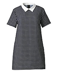 Alice And You Grid Print Shift Dress