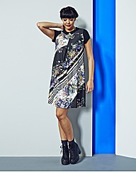 Simply Be Printed Collar Tunic Dress