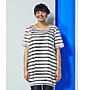 Simply Be Stripe Oversized TShirt