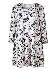 AX Paris Grey Floral Swing Dress