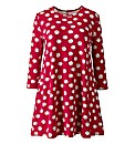 AX Paris Red Daisy Print Swing Dress
