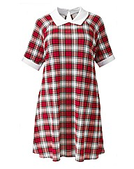 AX Paris Red Check Swing Dress
