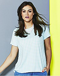 Simply Be Mint Gingham Shell Top