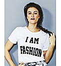 Simply be I am Fashion Slogan T Shirt