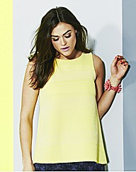 Simply Be Lemon Flock Swing Vest