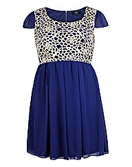 Koko Blue Lace Bodice Dress