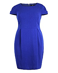 Koko Blue Short Sleeve Pencil Dress