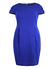 Koko Blue Short Sleeve Pencil Dress