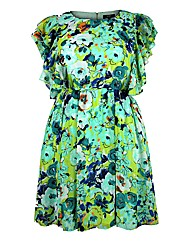 Koko Green Floral Print Dress