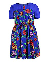 Koko Blue Floral Print Dress